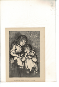 VINTAGE-A-CHRISTMAS-SKETCH-FIVE-O-039-CLOCK-IN-THE-MORNING-TH-NAST-AD-PRINT-D430