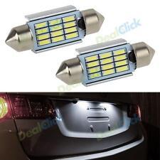 2x 7000K White LED 36mm Festoon Error Free License Plate Lights for Audi BMW