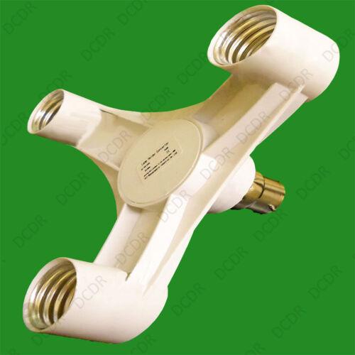 1x B22 to 3E27 Light Bulb Holder Adaptor Studio Photography Socket Splitter