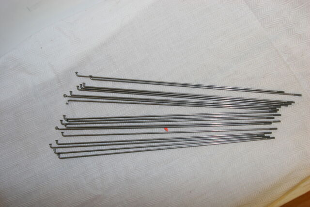 Bicycle Spokes 14g Steel Chrome with Nipples Various Sizes Sold by 4/'s