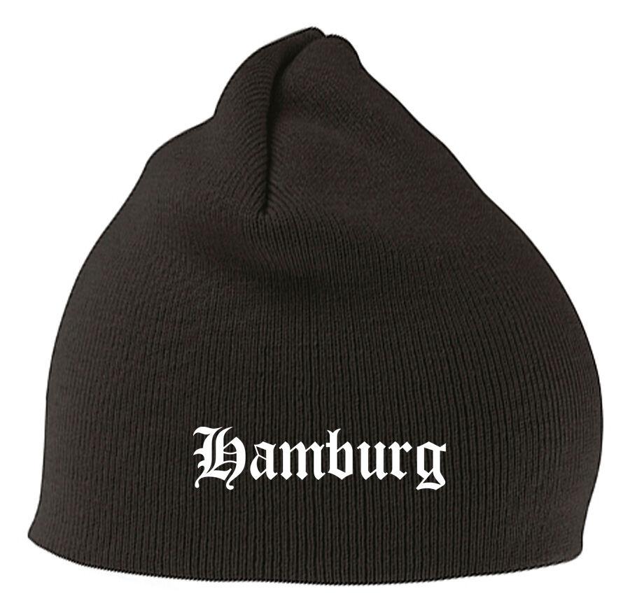 Hamburg Mütze Beanie - Edel Bestickt - Stitch
