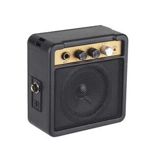 mini electric guitar amplifier amp speaker 5w w 1 4 inch headphone r8u9 ebay. Black Bedroom Furniture Sets. Home Design Ideas