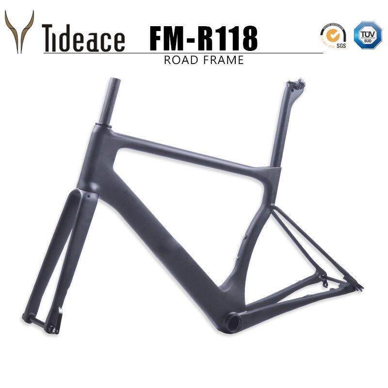 2018 T800 fibre de carbone Disque Frein Vélo de route cadre BB386 OEM Cyclisme frameset OEM