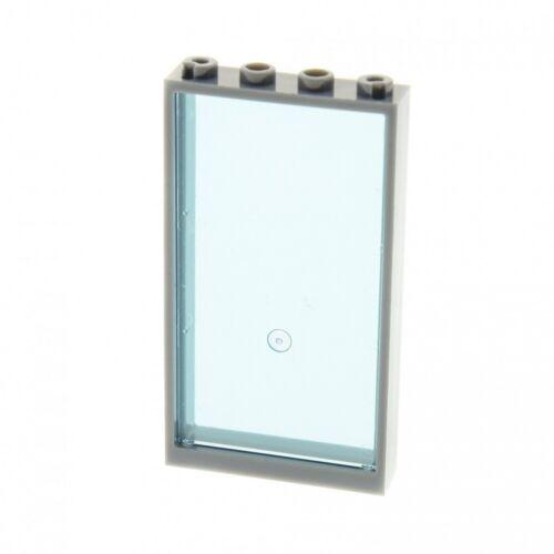 1x Lego Fenster neu-dunkel grau 1x4x6 Scheibe alte Form hell blau 57895 60596