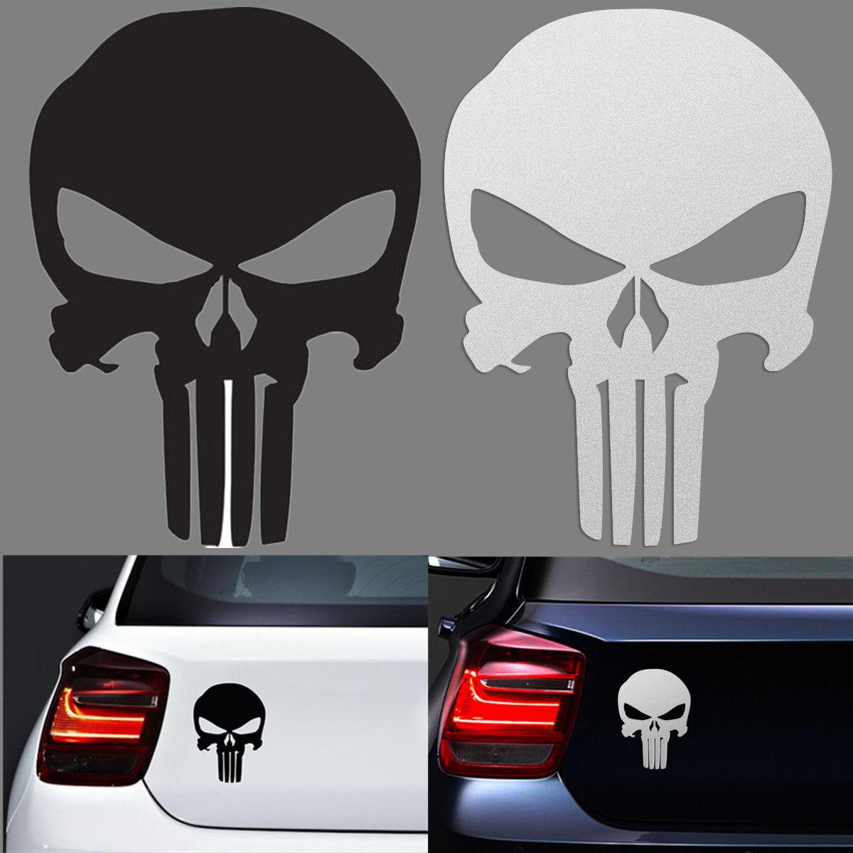 Punisher Skull Bumper Sticker Window American Sniper Car
