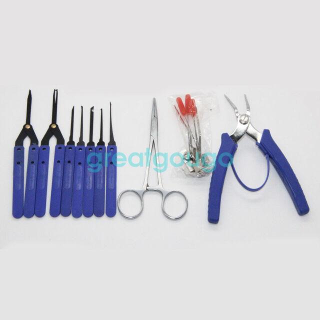 KLOM Broken Key Extractor Locksmith Tools Key Remove Hooks Lock Repair Tool Kit