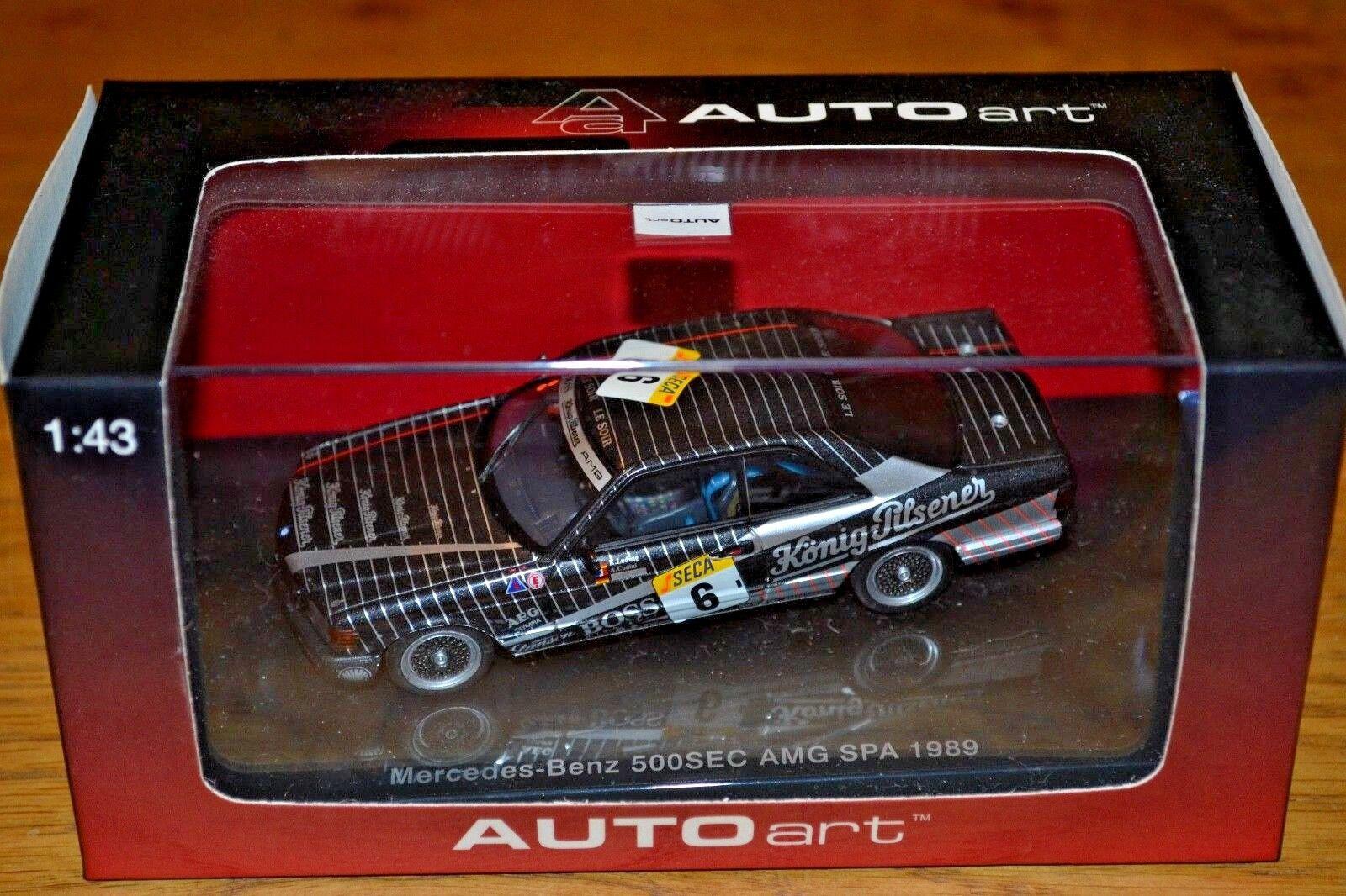 Autoart  MERCEDES BENZ 500 SEC AMG Spa 1989 Quasi Nuovo