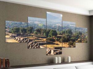 Foto-en-Lienzo-5-piezas-200x100cm-TEOTIHUACAN-RUINAS-Mexico-Imagenes-9ya1145