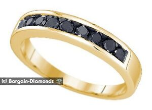 image is loading mens natural black diamond 50 carat 10k yellow