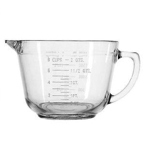 New-Dexam-Pyrex-Glass-2L-Mixing-amp-Measuring-Jug-Batter-Bowl