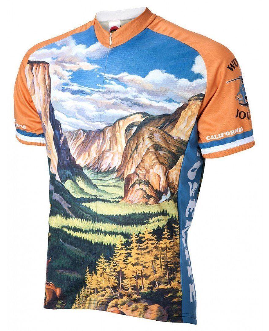 Yosemite Viaje Maillot  de Ciclismo  disfrutando de sus compras