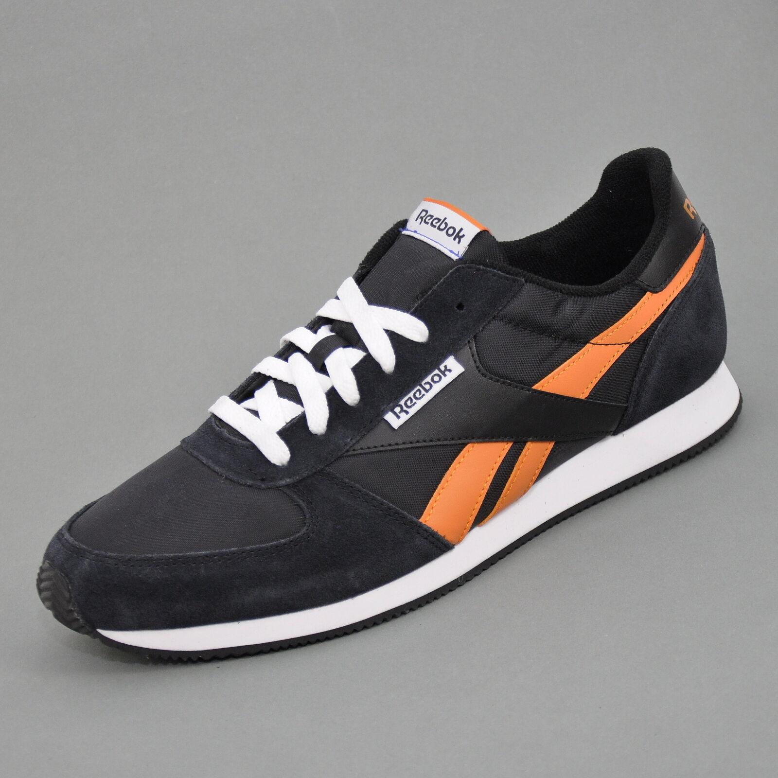 Reebok Royal CL Jogger Herren Sneaker Black/White/Orange J98930