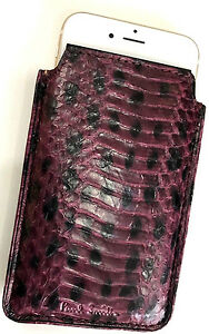 Paul smith snakeskin iphone 6 case business card holder leather image is loading paul smith snakeskin iphone 6 case business card colourmoves