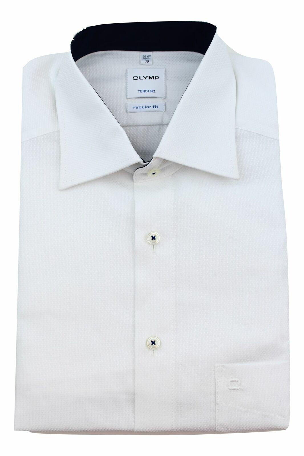 White Dobby Contrast Spread Collar