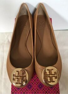 Image is loading NIB-Tory-Burch-Reva-Flats-Ballet-Tumbled-Leather-