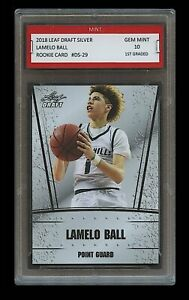 LAMELO-BALL-2018-LEAF-DRAFT-SILVER-1ST-GRADED-10-ROOKIE-CARD-RC-Illawarra-Hawks
