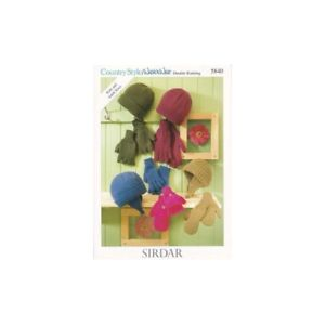 b9fea9905af Sirdar Knitting Pattern 5840 Country Style Wash n Wear DK Hats and ...