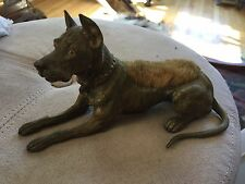Antique Great Dane Dog BRONZE PEN WIPE VIENNA AUSTRIA GESCHUTZT Germany