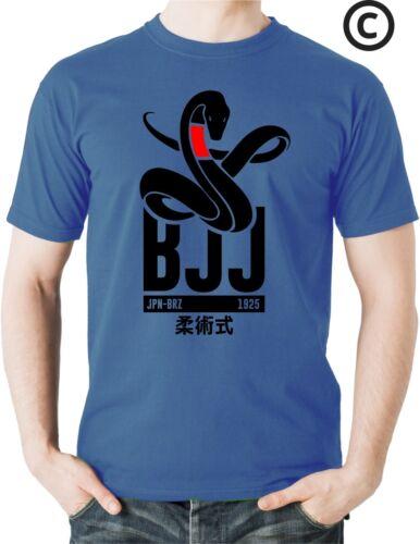 Black Mamba BJJ T Shirt Snake Gracie Brazilian Jiu Jitsu Legacy Tee Martial Arts