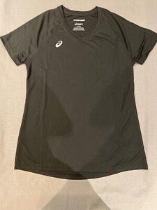 Asics Motion Dry Women's Circuit Warm Up Tee T Shirt Black Large ...