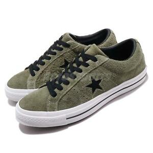 Details about Converse One Star OX Green Black White Men Women Casual Shoes Sneakers 163249C