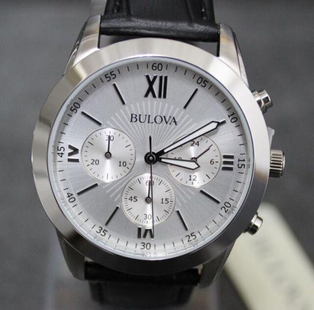 Reloj Cronógrafo Bulova 96A142 Clásico de hombre - Silver y cuero NUEVO €.279