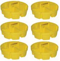 6 Ea Bucket Boss 15051 4 Compartment 5 Gallon Bucket Stacker Storage Organizers