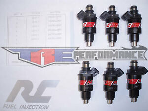 6 Pcs Set 550cc Fuel Injectors for Nissan Skyline Toyota Supra Turbo RB26DETT