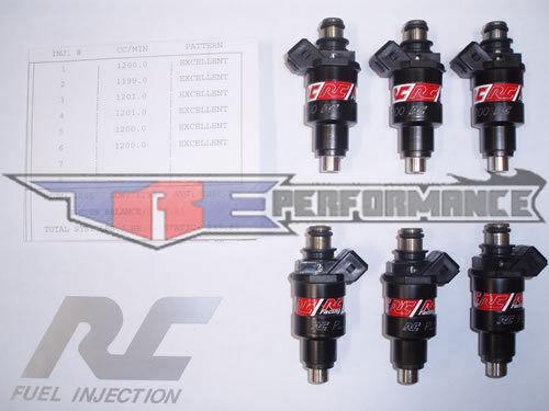 RC 550cc Fuel Injectors Fits Denso Nissan Skyline Toyota Supra Turbo RB26DETT