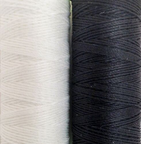 coats thread Extra Strong No10s.unsnapableThread 60 metres blk/&wht with needle,,