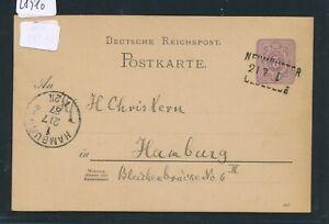 28910) Bahnpost L3 Neumünster Oldesloe Cours I, Ga 1887 N. Hambourg-afficher Le Titre D'origine Blanc Pur Et Translucide