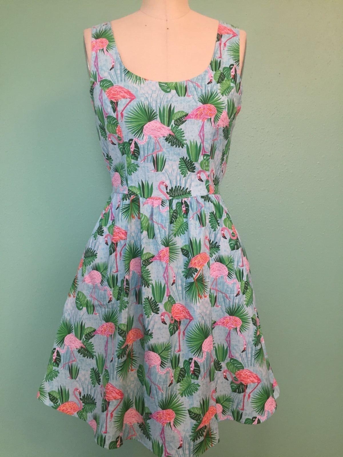NWT Folter Retrolicious Flamingo Party Dress retro vintage style