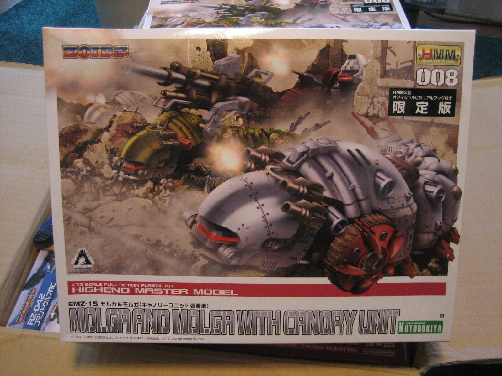 Zoids Kotobukiya HMM 008 EMZ-15 Molga & Molga Cannory model kit - Mint in Box