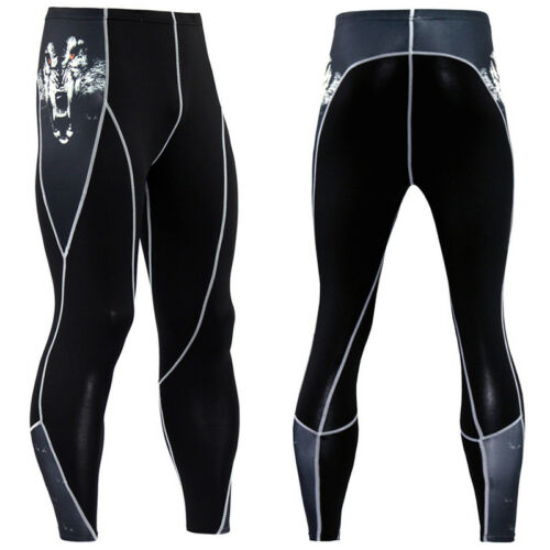 Mens Gym Compression Trousers Tight Base Layer Sport Leggings Running Long Pants