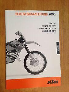 2006 dutch deutsch ktm 125 200 250 300 sx exc xc xc w owners manual rh ebay com 2006 ktm 300 exc manual 2006 ktm 300 xc w manual