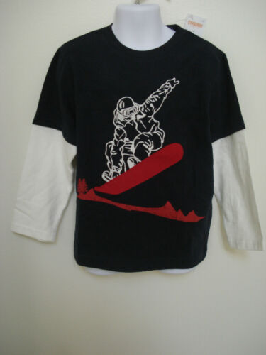 GYMBOREE Boy/'s Navy Blue Snow Chillin Long Sleeve T-Shirt Size 4 /& 6 NWT