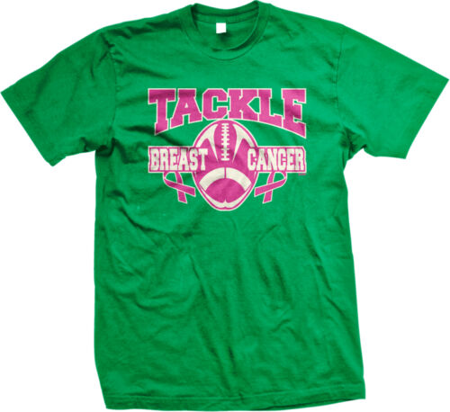 Tackle Breast Cancer Football Awareness Month Donate Cure Cause Ad Men/'s T-Shirt