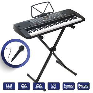 Digital Piano Keyboard 61 Key - Portable Electronic Instrument with Stand 842364108974