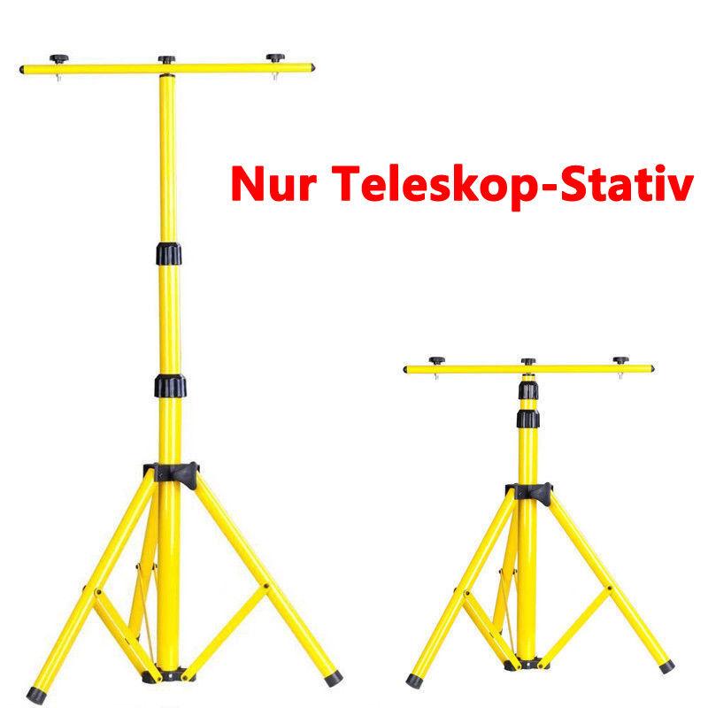 2x 10/20/30/50W Akku LED Handlampe Arbeitsleuchte Baustrahler Baustrahler Baustrahler + Teleskop Stativ 2173ba