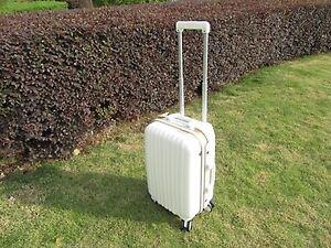 1X-24-Inch-White-Universal-Wheel-Lock-Travel-Suitcase-Luggage-Bag