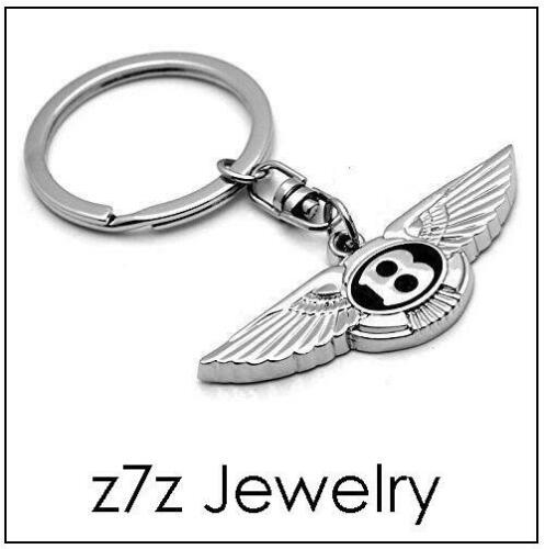 BENTLEY Logo Keychain letter initial B emblem keyring auto car wings  z7qq