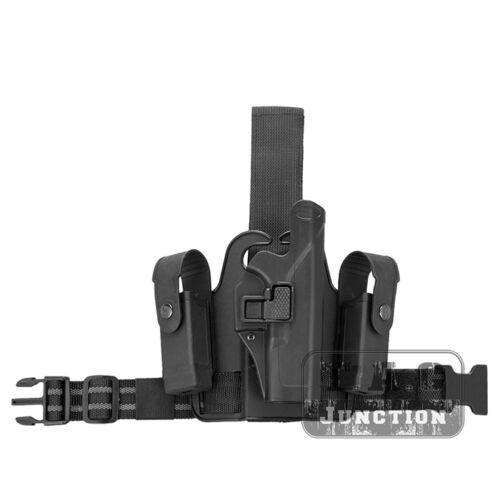 Level 2 Right Hand Leg Pistol Holster Single Strap for Glock 17 19 22 23 31 32