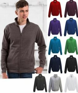 AWDis-Mens-Fresher-Full-Zip-Sweatshirt-2-Front-Pockets-Various-Colours