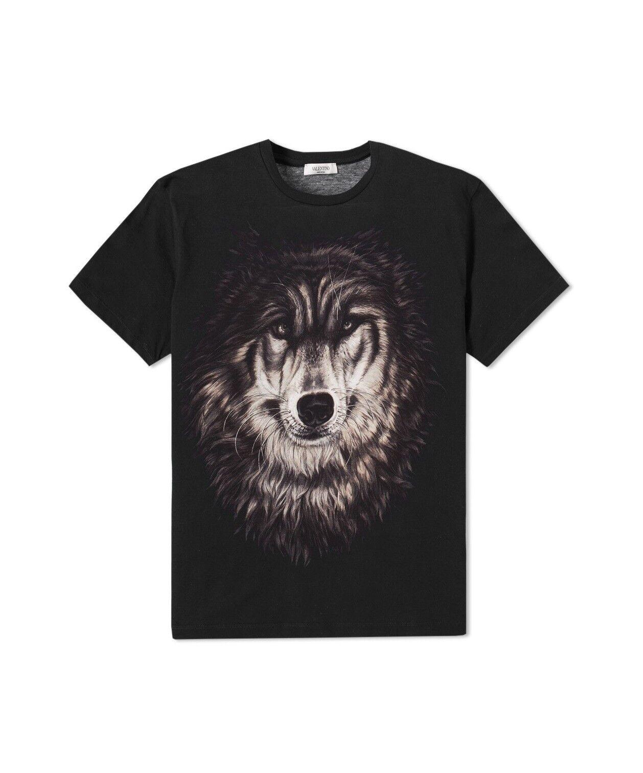 VALENTINO Wolf T-SHIRT, Tg Large & XL-NUOVA con etichetta, prezzo consigliato