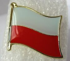 Poland / Polish  Flag Pin Badge  High Quality Gloss Enamel (Odznaka Polska)