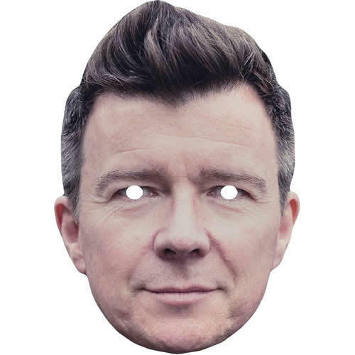 All Our Masks Are Pre-Cut! Rick Astley Celebrity Singer Flat Card Mask