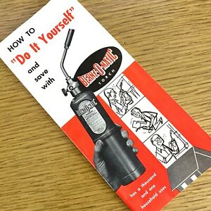 1950s BERNZ-O-MATIC PROPANE TORCHES vintage advertising brochure DO IT YOURSELF