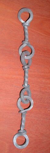 "22/"" Wrought Iron 3 pcs Lighting Chandelier Lamp 3 Link Hook Chains /& Ring"