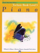 Alfred's Basic Piano Technic Book Lvl 3; Palmer, Manus & Lethco. - 2518