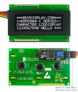 Black IIC/I2C/TWI Character 20x4 Serial LCD Module Display for Arduino w/Library